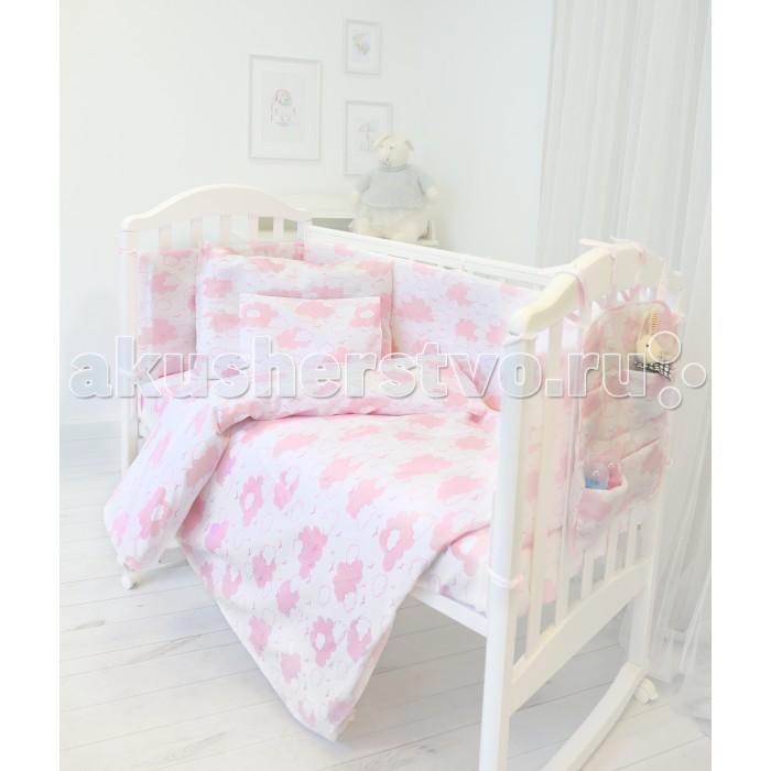 Комплекты в кроватку Baby Nice (ОТК) Облака (9 предметов) комплекты в кроватку mummys hugs нежность 120х60 см 7 предметов