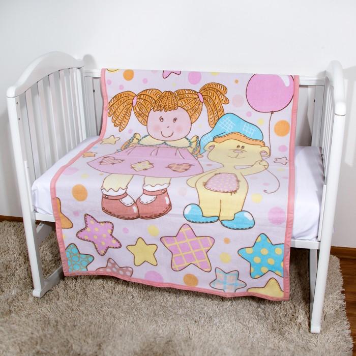 Одеяла Baby Nice (ОТК) байковое Девочка и мишка 100 х 140