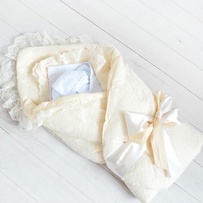 Комплект на выписку Baby Nice (ОТК) Набор для новорожденного №04Комплекты на выписку<br>Baby Nice (ОТК) Набор для новорожденного №04 Станет прекрасным сюрпризом для новорожденного малыша.  1. Пеленка трикотажная  2. Боди  3. Чепчик  4. Ползунки  5. Комбинезон  6. Конверт-одеяло на выписку  7. Одеяло вязаное с рюшами  возраст  0-3 мес