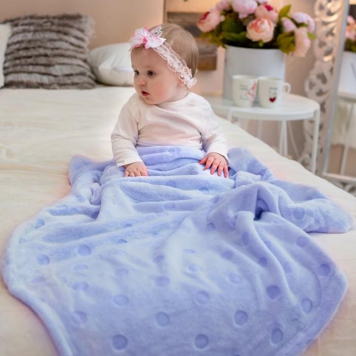 Купить Пледы, Плед Baby Nice (ОТК) покрывало Micro Velur Горох 150х200 см