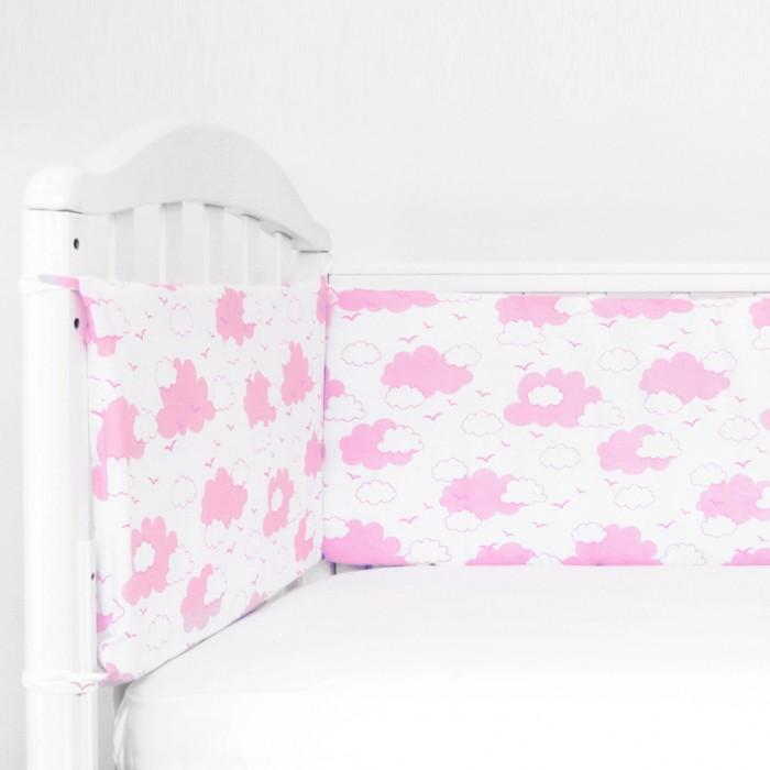 Бортики в кроватку Baby Nice (ОТК) Облака (полуборт)
