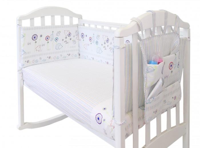 Бортики в кроватку Baby Nice (ОТК) с органайзером Ежик