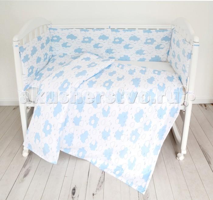 Постельные принадлежности , Комплекты в кроватку Baby Nice (ОТК) Споки ноки Облака (6 предметов) арт: 497771 -  Комплекты в кроватку