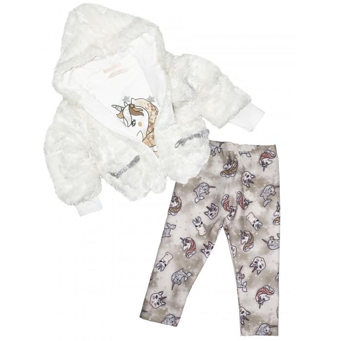 Комплекты детской одежды Baby Rose Комплект для девочки жакет, лонгслив и джинсы 3273 комплекты детской одежды viva baby комплект для девочки small bird d5004