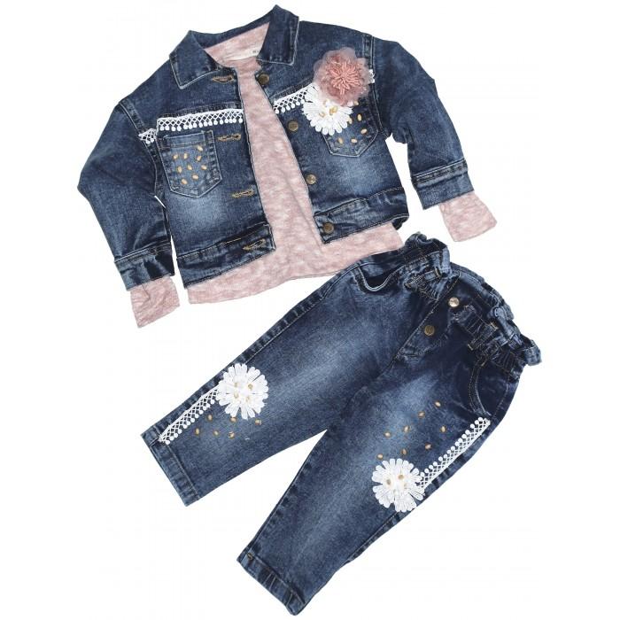 Комплекты детской одежды Baby Rose Комплект для девочки жакет, лонгслив и джинсы комплекты детской одежды viva baby комплект для девочки small bird d5004