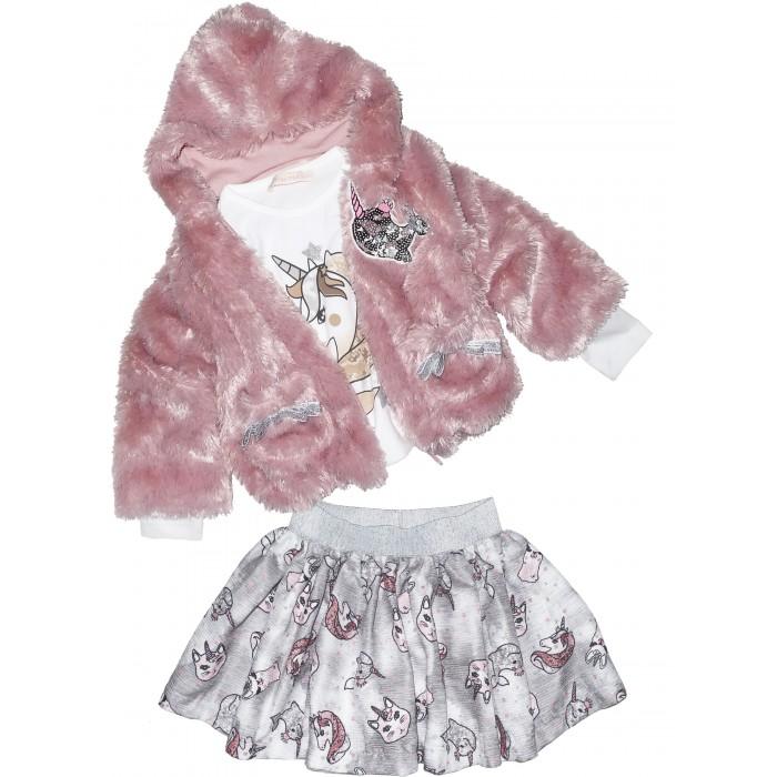 Юбки Baby Rose Комплект для девочки жакет, лонгслив и юбка 3274