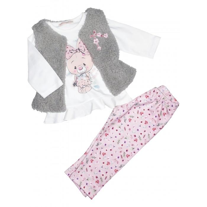 Картинка для Baby Rose Комплект для девочки жилет, лонгслив и леггинсы 7575