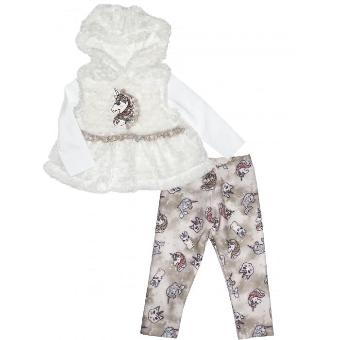 Картинка для Baby Rose Комплект для девочки жилет, лонгслив и леггинсы