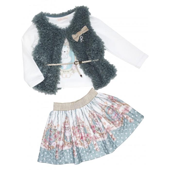 Купить Юбки, Baby Rose Комплект для девочки (жилет, лонгслив, юбка) 3302