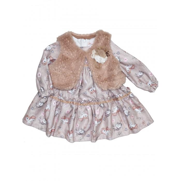 Купить Комплекты детской одежды, Baby Rose Комплект для девочки (жилет, платье) 3280