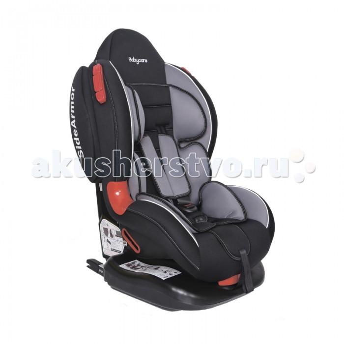 Автокресло Baby Care BC-02 Isofix ЛюксBC-02 Isofix ЛюксАвтокресло Baby Care BC-02 Isofix Люкс  - новая модель возрастной группы 1/2, рассчитанная на перевозку в автомобиле детей весом от 9 до 25 кг (примерно с 9 месяцев до 25 кг). Это автокресло сочетает в себе высокий уровень безопасности за счет использования крепления Isofix, комфортабельное сиденье, и доступную цену. Такое автокресло будет дарить радость от поездки маленькому пассажиру долгие годы.  Автокресло BC-02 Isofix выпускается с тремя вариантами отделки: базовый, немарких нейтральных тонов, Люкс, с использованием декоративной стежки Люкс Ultra, и, наконец, самый яркий Люкс Start, напоминающий о гонках. Обивка изготовлена из мягкого экологичного материала высокого качества, ее легко снять и постирать при температуре 30&#186;.  Модель изготовлена согласно европейскому стандарту ECE-R44/04, и устанавливается, согласно ему, на заднем сиденье автомобиля лицом по ходу движения. Установка происходит при помощи запатентованной системы металлических кронштейнов, фиксирующихся в скобах автомобильных ремней. Этот способ проще и надежней, чем крепление штатным автомобильным трехточечным ремнем безопасности, т.к. исключает возможность ошибки при установке и обеспечивает более жесткое сцепление с сиденьем автомобиля, выдерживающее даже сильный боковой удар. Кресло прошло на производстве трехступенчатый контроль качества, и вы можете быть уверены в его прочности и надежности. Глубокие боковины защищают малыша и от фронтального, и от бокового удара. Ортопедический каркас в мягком чехле повторяет форму тела ребенка и обеспечивает удобство посадки.  Маленький пассажир фиксируется на сиденье пятиточечными ремнями безопасности с мягкими плечевыми накладками с прочным замком. Подголовник имеет мощные боковины, чтобы защитить голову и шею малыша. Наклон спинки регулируется в 6 положениях, чтобы малыш во время длительной поездки мог вздремнуть, не заваливаясь головой на грудь.  Особенности: Возрастная группа: 1/2 (9-25 кг) Спо