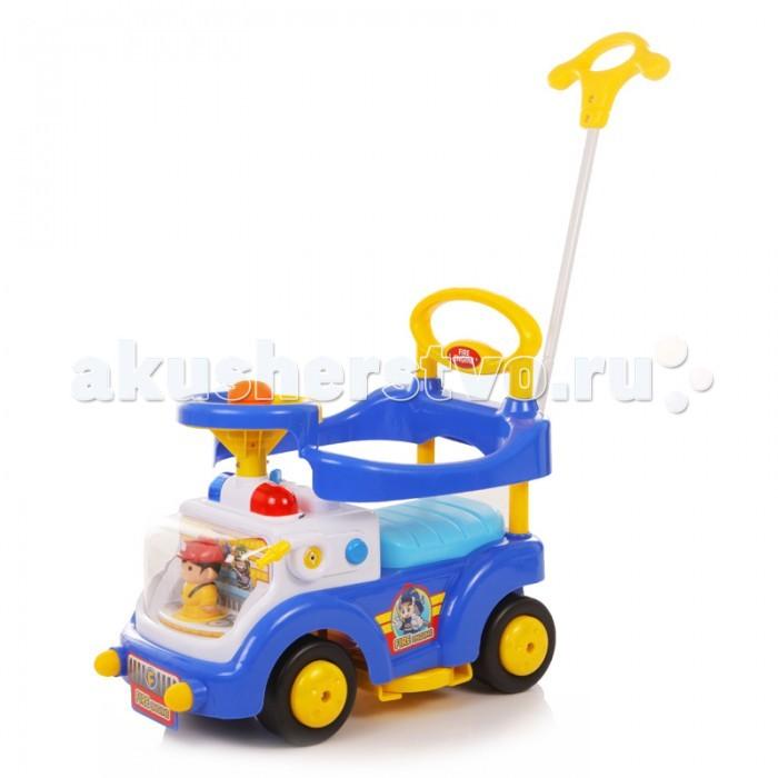 """Каталка Baby Care Fire EngineFire EngineBaby Care Fire Engine - суперлёгкая и очень надежная каталка.    Машинка выполнена таким образом, чтобы быть максимально безопасной для малыша. У нее отсутствуют острые углы.  Есть игрушка """"Пожарник за рулем"""", поворотный руль с музыкальной кнопкой и световые эффекты. Размер каталки: длина (с ручкой) 67 см, ширина 38 см, высота (с ручкой) 90 см.  Вес: 4.4 кг. Максимальная нагрузка: 27 кг. Размер колёс: 14 см.<br>"""