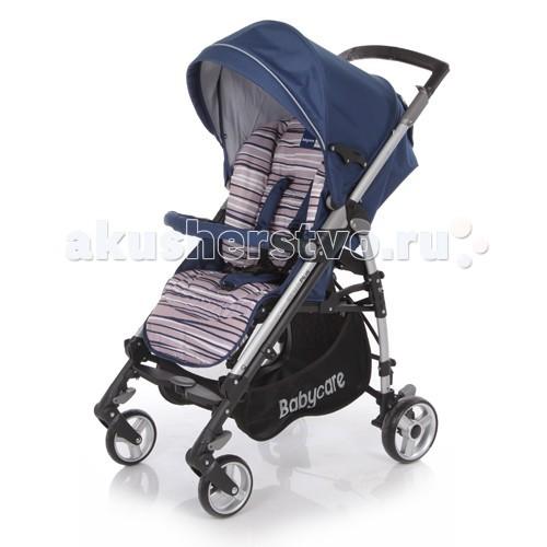 Коляска-трость Baby Care GT4 PlusGT4 PlusBaby Care GT4 Plus - прогулочная коляска с возможностью складывания тростью. Широкое посадочное место позволяет ребенку чувствовать себя комфортно даже в объемном зимнем комбинезоне. К тому же спинка механически раскладывается до 170 градусов, что вкупе с регулируемой подножкой дают полноценное спальное место.   Капор раскладывается за счет дополнительных секций, скрытых под молнией, может опускаться до бампера.   Коляска складывается с помощью механизма, позаимствованного у колясок-тростей, что делает данную модель более компактной в хранении.Baby Care GT 4.0 Plus - прогулочная коляска с возможностью складывания тростью.  Главное отличие данной модели от коляски Baby Care GT 4.0 - модернизированная выдвижная ручка, которая положительно влияет на прочность коляски и при этом не препятствует складыванию.   Особенности:   облегченная рама, как у колясок-тростей; спинка регулируется в трех положениях, вплоть до 170 градусов; капюшон легко трансформируется в тент с помощью молний; подножка регулируется в двух положениях, удлиняя спальное место; съемный бампер с мягкой обивкой; все колеса оборудованы пружинными подвесками; передние колеса плавающие с возможностью фиксации; задние колеса с реечным тормозом; 5-точечные ремни безопасности; тканевые детали можно снимать для стирки; вместительная корзина для покупок; коляска компактно складывается тростью. Замок безопасности, который в сложенном виде предохраняет коляску от случайного раскрытия.   Комплектация:   утепленный чехол на ноги; дождевик (винил).   Особенности:   Диаметр колес: передние – 16 см, задние – 18 см Тип колес: одинарные, плотная резина Механизм складывания: трость Ширина колесной базы: 51 см Ширина сидения: 35 см. Длина спального места: 90 см. Размеры в разложенном виде: 103х51х87 см. Размеры в сложенном виде: 31х31х99 см. Вес: 10,1 кг.<br>