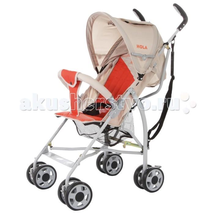 Коляска-трость Baby Care HolaHolaКоляска-трость Baby Care Hola – супер легкая коляска-трость. Отличный выбор для летних прогулок или поездки на отдых. Коляска очень компактно складывается. Ее можно взять с собой на самолет, она не займет много места в автомобиле.   Hola чрезвычайно маневренна. Передние колеса поворотные, но их можно фиксировать для езды по прямой. Для удобства переноски коляска оснащена плечевым ремешком.   Основные преимущества коляски – сверхлегкий вес и эргономичность. Ее можно переносить мизинцем. В данной модели сохранен только необходимый функционал. Спинка может раскладываться в двух положениях, а капюшон, несмотря на небольшой размер, хорошо защищает от ультрафиолета и легких осадков. Колеса выполнены из мягкой вспененной резины (пеноплена) и прекрасно гасят вибрации.   Особенности: сверхлегкая рама; небольшой складывающийся капюшон; спинка раскладывается в двух положениях; 3-точечный ремень безопасности; передние колеса плавающие с возможностью фиксации; корзинка для покупок; ремешок для переноски; стояночный тормоз на задних колесах; коляска складывается тростью; твердые спинка и сидушка (за счет твердых планок, зашитых в отдельные кармашки); бампер отстегивается с двух сторон или с каждой стороны по-отдельности; разделитель между ножек.  Размеры: ширина сидения – 30 см глубина сидения – 21 см высота спинки - 43 см высота сидения от пола - 35 см длина спального места – 65 см длина колесной базы – 72 см размеры в сложенном виде - 24x87x23 см.<br>