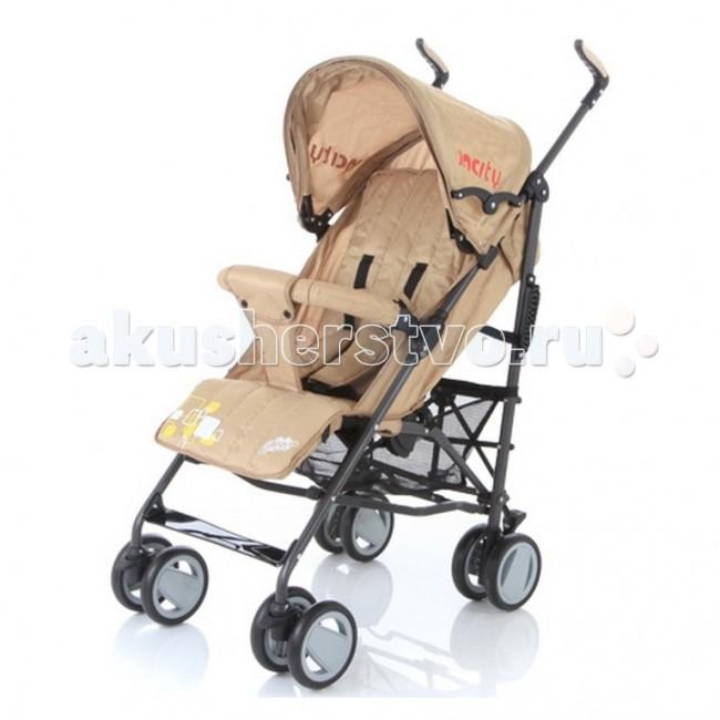 Коляска-трость Baby Care In CityIn CityКоляска-трость Baby Care In City - качественная городская коляска-трость с новой элегантной рамой, улучшенным дизайном колес и улучшенной амортизацией, функционалу которой позавидуют многие прогулочные коляски.  Данная модель подходит для любых погодных условий. В комплект входит утепленный чехол на ножки. Кроме того, от дождя прекрасно защищает большой капюшон. Он быстро сохнет и может раскладываться почти до бампера.  Все необходимые функции посадочного места сохранены. Спинка имеет три положения наклона, подножка может регулироваться по высоте. За безопасность малыша отвечают 5-точечные ремни безопасности и передний бампер, который не нужно снимать при складывании.  Особенности: новая, элегантная и облегченная алюминиевая рама капюшон может опускаться достаточно низко, почти до бампера съемный бампер с мягкой обивкой, который не нужно снимать при складывании  спинка имеет 3 положения наклона регулируемая по высоте подножка 5-точечные ремни безопасности передние колеса плавающие с возможностью автоматической фиксации стояночный тормоз на задних колесах вместительная корзина для вещей коляска складывается тростью.  Размеры и вес: Вес: 6,2 кг ширина сидения - 34 см глубина сидения - 19 см длина спального места - 78 см длина колесной базы - 53 см.<br>