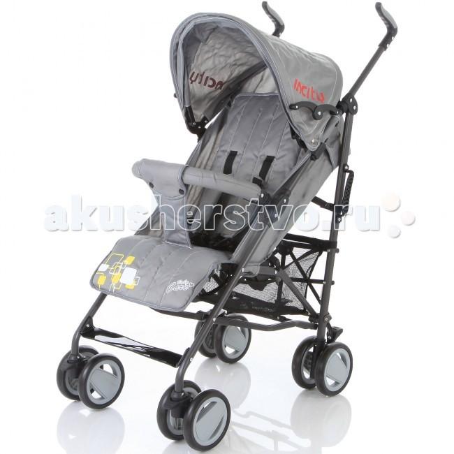 Коляска-трость Baby Care In CityIn CityBaby Care In City - качественная городская коляска-трость с новой элегантной рамой, улучшенным дизайном колес и улучшенной амортизацией, функционалу которой позавидуют многие прогулочные коляски.  Данная модель подходит для любых погодных условий. В комплект входит утепленный чехол на ножки. Кроме того, от дождя прекрасно защищает большой капюшон. Он быстро сохнет и может раскладываться почти до бампера.  Все необходимые функции посадочного места сохранены. Спинка имеет три положения наклона, подножка может регулироваться по высоте. За безопасность малыша отвечают 5-точечные ремни безопасности и передний бампер, который не нужно снимать при складывании.  Особенности: новая, элегантная и облегченная алюминиевая рама капюшон может опускаться достаточно низко, почти до бампера съемный бампер с мягкой обивкой, который не нужно снимать при складывании  спинка имеет 3 положения наклона регулируемая по высоте подножка 5-точечные ремни безопасности передние колеса плавающие с возможностью автоматической фиксации стояночный тормоз на задних колесах вместительная корзина для вещей коляска складывается тростью  Комплектация: чехол на ноги  Размеры: Диаметр колес: 15 см Тип колес: сдвоенные, плотная резина Ширина колесной базы: 47 см Вес: 6,2 кг ширина сидения - 34 см глубина сидения - 19 см длина спального места - 78 см длина колесной базы - 53 см<br>