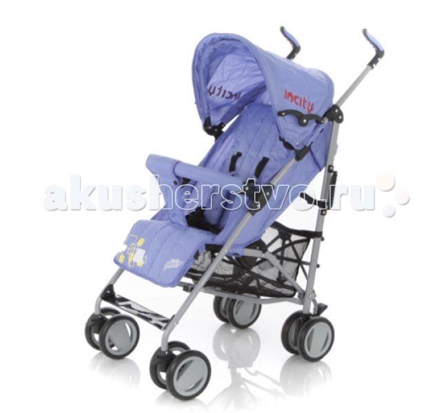 Коляска-трость Baby Care In CityКоляски-трости<br>Коляска-трость Baby Care In City - качественная городская коляска-трость с новой элегантной рамой, улучшенным дизайном колес и улучшенной амортизацией, функционалу которой позавидуют многие прогулочные коляски.  Данная модель подходит для любых погодных условий. В комплект входит утепленный чехол на ножки. Кроме того, от дождя прекрасно защищает большой капюшон. Он быстро сохнет и может раскладываться почти до бампера.  Все необходимые функции посадочного места сохранены. Спинка имеет три положения наклона, подножка может регулироваться по высоте. За безопасность малыша отвечают 5-точечные ремни безопасности и передний бампер, который не нужно снимать при складывании.  Особенности: новая, элегантная и облегченная алюминиевая рама капюшон может опускаться достаточно низко, почти до бампера съемный бампер с мягкой обивкой, который не нужно снимать при складывании  спинка имеет 3 положения наклона регулируемая по высоте подножка 5-точечные ремни безопасности передние колеса плавающие с возможностью автоматической фиксации стояночный тормоз на задних колесах вместительная корзина для вещей коляска складывается тростью.  Размеры и вес: Вес: 6,2 кг ширина сидения - 34 см глубина сидения - 19 см длина спального места - 78 см длина колесной базы - 53 см.