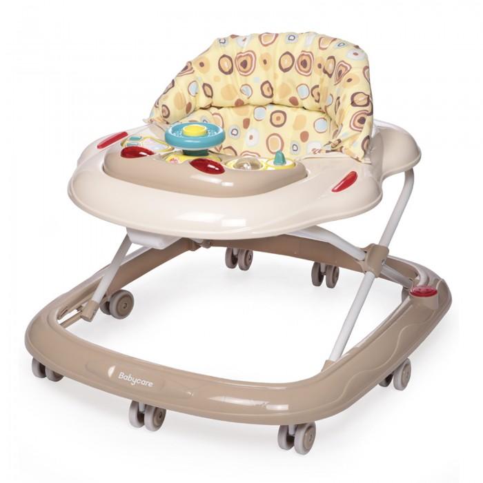 Ходунки Baby Care PilotХодунки<br>превосходное качество  силиконовые колеса  мягкое сиденье  съемная музыкально-игровая панель  регулируемая высота от пола  полностью съемная для обивка (для удобства стирки)  Особенности:  8 силиконовых колёс;  5 уровней высоты  съёмная игровая панель;  текстиль можно снять для стирки;  рекомендовано для детей от 6 месяцев до 18 месяцев;  максимальная нагрузка на ходунок до 12 кг;  игровая панель со звуком и музыкой.   Характеристики:  Вес ходунка: 2,9 кг.  Размер ходунка в разложенном состоянии: 64х60х54 см.  Размер ходунка в сложенном состоянии: 64х60х28 см.  Размер упаковки: 60,5x10,5x64,7 см.  Вес упаковки: 3,6 кг.