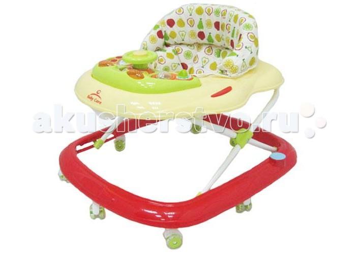 Ходунки Baby Care PilotPilotпревосходное качество  силиконовые колеса  мягкое сиденье  съемная музыкально-игровая панель  регулируемая высота от пола  полностью съемная для обивка (для удобства стирки)  Особенности:  8 силиконовых колёс;  5 уровней высоты  съёмная игровая панель;  текстиль можно снять для стирки;  рекомендовано для детей от 6 месяцев до 18 месяцев;  максимальная нагрузка на ходунок до 12 кг;  игровая панель со звуком и музыкой.   Характеристики:  Вес ходунка: 2,9 кг.  Размер ходунка в разложенном состоянии: 64х60х54 см.  Размер ходунка в сложенном состоянии: 64х60х28 см.  Размер упаковки: 60,5x10,5x64,7 см.  Вес упаковки: 3,6 кг.<br>