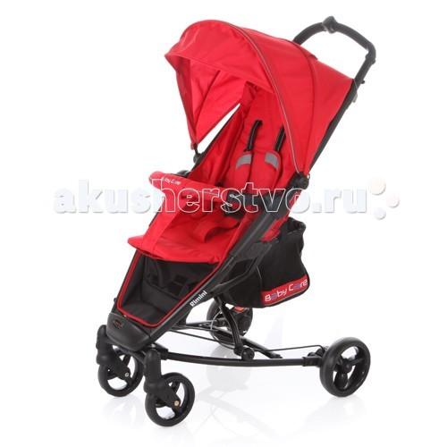 Прогулочная коляска Baby Care RiminiПрогулочные коляски<br>Прогулочная коляска Baby Care Rimini – современная городская прогулочная коляска. Сконструированная на легкой алюминиевой раме, данная модель – отличный выбор для молодой семьи.   Большой капюшон со смотровым окошком снабжен дополнительным козырьком. Спинка может раскладываться почти до горизонтального положения. Вкупе с подножкой, крепящейся с помощью перемычки к бамперу, получаем просторное спальное место.   Rimini быстро и компактно складывается книжкой. Коляска не занимает много места и снабжена защитой от случайного раскладывания.  Особенности: легкая алюминиевая рама плавающие передние колеса с возможностью фиксации ножной барабанный тормоз на тросике регулируемая подножка 5-ти точеные ремни безопасности съемный бампер с мягкой обивкой коляска складывается в «книжку» одной рукой.   Размеры: размер спального места: 73х30 см размер корзины: 20х20х25 см размеры в разложенном виде: 59х82х102 см размеры в сложенном виде: 32х75х44 см.