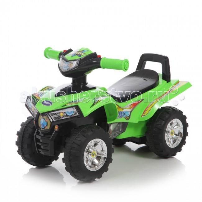 Каталка Baby Care Super ATVSuper ATVКаталка Baby Care Super ATV - легкая, надежная и качественная каталка-квадроцикл. Очень понравится юным гонщикам. Она может стать первым личным транспортом в жизни малыша.  У каталки надежные 17-сантиметровые колеса с рисунком на шинах. Удобное широкое сидение гарантирует комфорт во время езды. Впереди расположен руль.   Каталка отличается оригинальным дизайном с использованием ярких наклеек. Большая прочность, маневренность и устойчивость гарантируют то, что каталка подойдет даже для самых непоседливых малышей.  Вес каталки: 2,4 кг  Допустимый вес ребенка: 27 кг  Размер: 60 х 38 х 42 см<br>