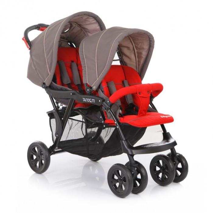 Baby Care Tandem для двойниTandem для двойниПрогулочная коляска Baby Care Tandem для двойни – замечательный вариант для ежедневных прогулок с малышами.   Особенности: крепкая металлическая рама плавающие передние колеса с ручной фиксацией 5-ти точеные ремни безопасности съемный бампер с мягкой обивкой коляска складывается в «книжку» передняя спинка имеет 2 уровня наклона задняя спинка регулируется при помощи ремня вместительная корзина под сидениями ножная тормозная система В комплекте 2 чехла на ноги  Характеристики: диаметр колес: передние – 20.3 см, задние — 25.4 см тип колес: передние-двойные, задние-одинарные механизм складывания: книжка ширина колесной базы: 57 см вес: 13.5 кг ширина сиденья: 37 см размер корзины: 70х31х25 см размер в разложенном виде: 120х57х112 см размер в сложенном виде: 99х57х37 см вес упаковки: 15.5 кг размер упаковки: 47х32х94 см<br>