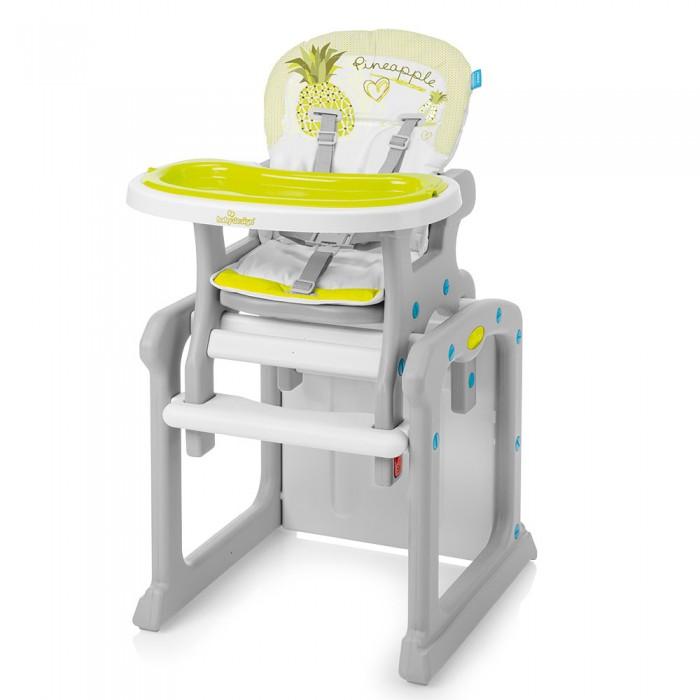 Стульчик для кормления Baby Design CandyCandyСтульчик для кормления Baby Design Candy   Стульчик и столик Candy 2 в 1 – для кормления и игры, предназначены для детей в возрасте от 6 месяцев до 3-х лет. С ростом ребенка его можно трансформировать в идеальный столик для детской комнаты.  Особенности: Возможность регулировки столика в трех позициях, а также подножка позволяют оптимально отрегулировать стульчик к росту ребенка 3 позиции регулировки спинки Снимаемая обивка изготовлена из легкоочищаемых материалов Двойной столик Надежная конструкция эргономичной формы, привлекательный дизайн Пятиточечные ремни безопасности и защита от выпадения ребенка Удовлетворяет требованиям европейского стандарта EN14988 – гарантия качества и надежности Конструкция изготовлена из лёгкого, безопасного для малышей, прочного пластика высокого качества. Она является достаточно устойчивой, не занимает много места.<br>