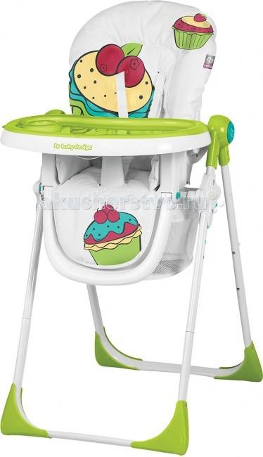 Стульчик для кормления Baby Design CookieCookieСтульчик для кормления Baby Design Cookie - стиль, дизайн, продуманность и надежность. Отлично подойдет для вашего малыша и обеспечит комфорт во время кормления.  Прием пищи может быть таким же веселым, как и время для игр! Каждый маленький едок будет счастлив сидя в стульчике Cookie!  Особенности: Детский стул имеет регулировку высоты сиденья в 6-ти положениях Независимую регулировку спинки в 3-х позициях 3 положения регулировки столика (ближе/дальше от ребенка), 2 позиции регулировки подножки 2 столика с подстаканником. Они легко снимаются и удобны в уходе Стульчик удобно и легко складывается при помощи двух кнопок. Компактен в сложенном виде Имеет пятиточечные ремни безопасности, а также защиту (ограничитель) от выпадения ребенка Есть вместительная сетка для мелочей Снимаемый и легкоочищаемый чехол Экономит место благодаря возможности хранения стульчика в вертикальном положении, без необходимости снятия столика. Столик остается подвешенным на конструкции.<br>