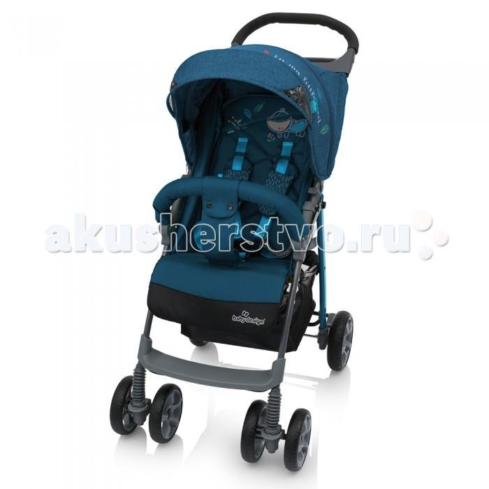 Прогулочная коляска Baby Design MiniMiniНебольшая и удобная прогулочная детская коляска Baby Design Mini подойдет как для прогулок по городу, так и для поездок, такую коляску всегда можно взять с собой, ведь в сложенном виде она занимает совсем мало места.  легкая алюминиевая конструкция прочные колеса с амортизацией  плавающие передние колеса с фиксаторами  большой удлиненный капюшон, позволяет полностью закрыть малыша от солнца и во время сна смотровое окошко  съемный барьер, регулируемый по высоте  пятиточечные ремни безопасности с мягкими ограничителями  регулируемая спинка: плавная регулировка ремешком  регулируемая подножка  мягкая, удобная ручка с практичным подносом для мелочей  компактный размер в сложенном виде  вместительная корзина для покупок  в комплект входит накидка на ножки   Вес коляски: 7.2 кг  Размер коляски в разложенном виде: (ДхШхВ) 82х48х98 см.  Спальное место (ДхШ): 70х31 см Размер сидения: 31х46х22 см.<br>