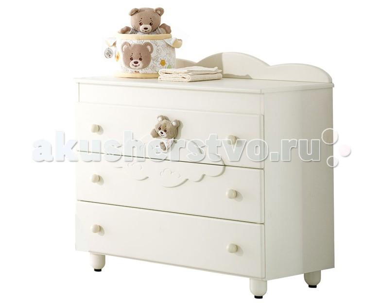 Комод Baby Expert Abbracci by Trudi бельевой (3 ящика)