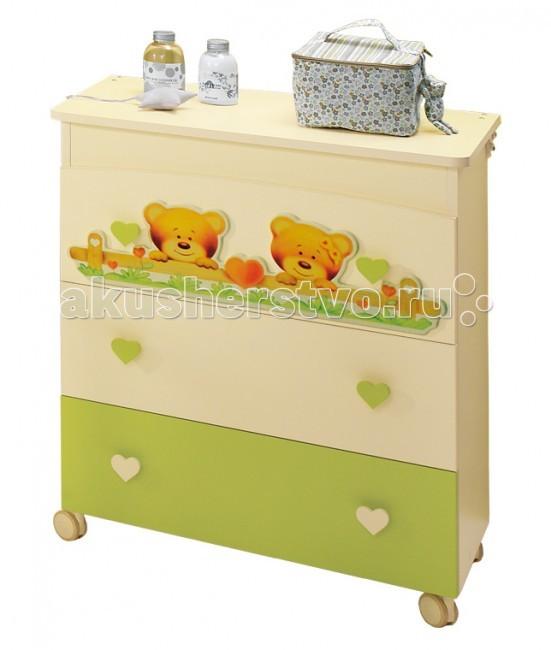 Детская мебель , Комоды Baby Expert Cuore пеленальный с ванночкой для купания арт: 15605 -  Комоды