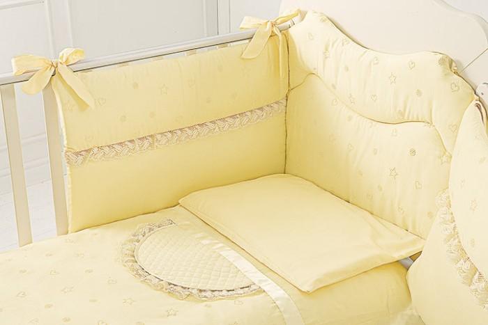 Комплект в кроватку Baby Expert Diamante (3 предмета)Diamante (3 предмета)Комплект постельного белья Diamante выполнен из ткани шантунг, сплошная вышивка белой нитью с эффектом блеска.  В комплекте: - одеяло (100х130 см)+ пододеяльник (100х130см)  - бортик в кроватку  - наволочка   Можно стирать в стиральной машине (щадящий режим).<br>