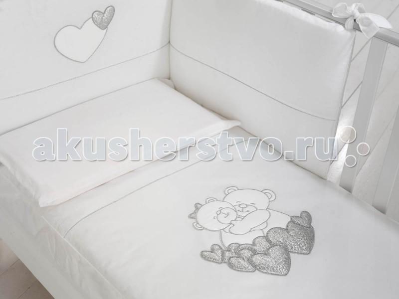 Комплект в кроватку Baby Expert Tenerezze (4 предмета)Tenerezze (4 предмета)Очаровательный комплект постельного белья Tenerezze от Baby Expert создаст уют и обеспечит комфортный сон для Вашего малыша. Отделка вышивкой с медвежатами обязательно понравится Вам и малышу.   В комплекте Вы найдете 4 предмета для детской кроватки:  мягкий бампер на завязках (195х40 см) легкое стеганое одеяло (70х100 см) пододеяльник (100х130 см) наволочка на подушку (40х60 см)  Материалы:  покрытие - 100% хлопок наполнение одеяла - синтепон  Все белье гипоаллергенно и сертифицировано.   Уход: стирка в стиральной машине.<br>