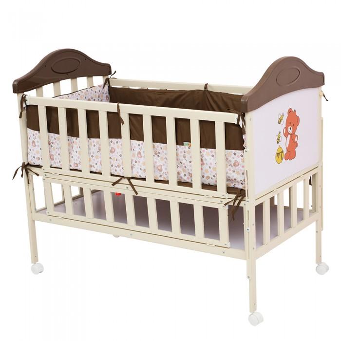 Детская кроватка BabyHit SleepySleepyДетская кроватка BabyHit Sleepy  Особенности: Кроватка выполнена «под крашенное дерево» Профиль прямоугольного сечения Размер спального места 120 х 60 см. Откидной торцевой борт (увеличение длины спального места) Откидной боковой борт (для размещения рядом с кроватью мамы) Отсек для хранения 4 колеса со стопорами В комплекте: мягкие бортики, москитная сетка – балдахин<br>