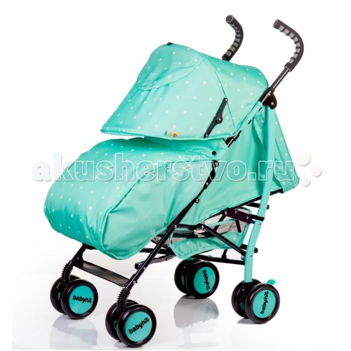 Коляска-трость BabyHit SmileySmileyЯркая и стильная коляска-трость Babyhit Smiley с амортизаций всех колес и большим капюшоном.  Особенности коляски-трости Babyhit Smiley: Коляска предназначена для детей от 7-ми месяцев до 3-х лет. Жесткая спинка сиденья способствует правильному формированию позвоночника и регулируется в 3-х положениях. Амортизация всех колес. Большой капюшон-батискаф с смотровым окном и солнцезащитным козырьком. Кармашек для мелочей на капюшоне. Система ремней безопасности и ограничительный поручень отвечают за безопасное нахождение ребенка в коляске. Регулируемая подножка Чехол для ножек для прогулок в прохладную погоду. Удобные ручки с мягкими накладками подойдут для любого роста родителей. Передние поворотные колеса с возможностью фиксации. Коляска легко и компактно складывается. Вместительная корзинка для покупок.  Характеристика: Ширина коляски: 49 см Высота коляски: 104 см. Диаметр колес: 14 см Размеры в сложенном виде (ДхШхВ): 98х46х36 см Размеры в разложенном виде (ДхШхВ): 63х49х104 см Размер сидения: ширина 35, глубина 24 см. Высота спинки: 45 см.  В комплекте: Чехол для ножек. Дождевик. Москитная сетка.<br>