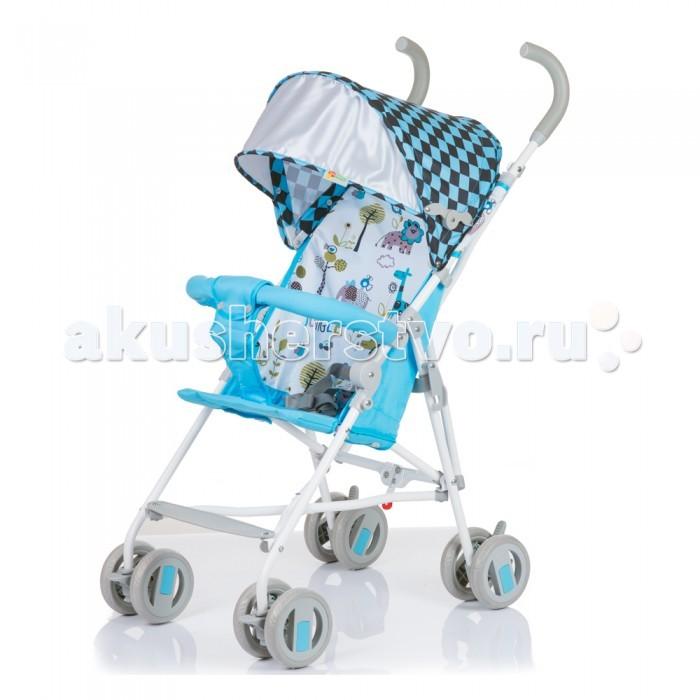 Коляска-трость BabyHit WeenyWeenyBaby Hit Weeny - очень легкая трость для малыша. Яркие и летние цвета. Незаменимый помощник в путешествиях.  Характеристики: солнцезащитный козырек просторное сиденье система амортизации на передних колесах паховый ремень не съемный бампер колеса - литые, псевдорезина, поворотные  Диаметр колес - 12.7 см Вес: 4.5 кг<br>