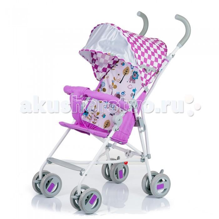 Коляска-трость BabyHit WeenyWeenyBaby Hit Weeny - очень легкая трость для малыша. Яркие и летние цвета. Незаменимый помощник в путешествиях.  Характеристики: солнцезащитный козырек просторное сиденье система амортизации на передних колесах паховый ремень колеса - литые, псевдорезина, поворотные  Диаметр колес - 12.7 см Вес: 4.5 кг<br>