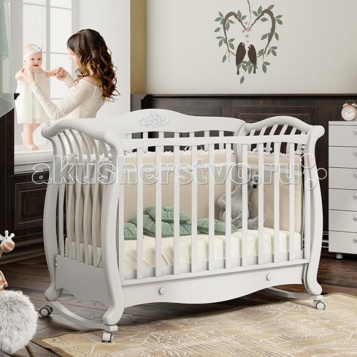 Детская кроватка Baby Italia Andrea VIP Lux качалка cо стразами