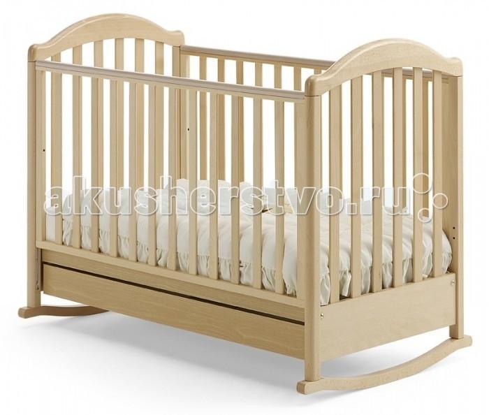 Детска кроватка Baby Italia Euro качалкаEuro качалкаДетска кроватка Baby Italia Euro качалка классического дизайна с легкость впишетс в лбой интерьер.   Благодар прочным материалам и новейшим технологим производства кроватка превосходно впишетс в лбой интерьер детской комнаты и прослужит вам долгие годы. Плавные очертани вкупе с отсутствием острых углов в конструкции кроватки уберегут вашего ребенка от ушибов и ссадин. А ручки и ножки не попадут в промежуток между рейками боковин, благодар продуманному размеру промежутков.   Основание не просто сделает сон малыша комфортным, но и поможет в формировании правильного строени позвоночника малыша с самого начала его жизни. Внизу кроватки находитс выдвижной щик дл бель. Малыш легко будет засыпать под размеренное качание кроватки, когда же врем качаний пройдет, на полозь можно поставить колесики дл простого перемещени кроватки.  Основные характеристики кроватки-качалки Baby Italia Euro: изготовлена из массива бука  покрытие  нетоксичный лак  опускащас бокова стенка кроватки  силиконовые накладки на бокову стенку  два уровн положени дна  самоцентрирущиес колесики  колеса с прорезиненным покрытием<br>