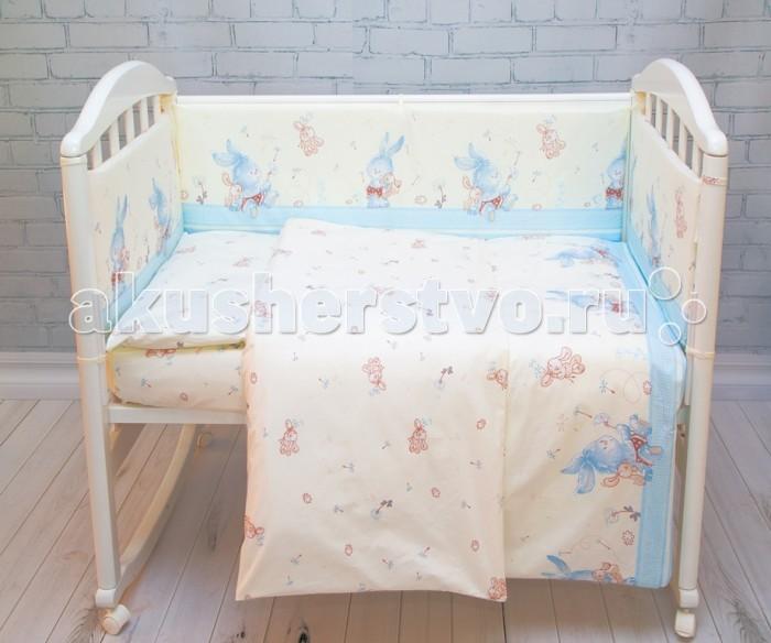 Постельное белье Baby Nice (ОТК) Элит Зайка (3 предмета) baby nice отк котята 3 предмета