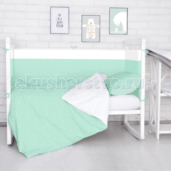 Бортики в кроватку Baby Nice (ОТК) Луны звездочки S6012702 baby nice борт в кроватку 4 шт