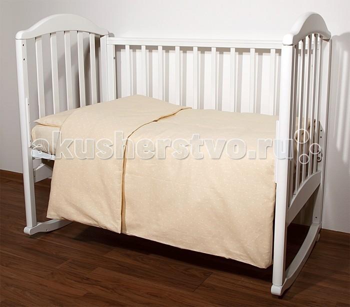 Постельное белье Baby Nice (ОТК) Споки ноки Горох (3 предмета) baby nice постельное белье ежик 3 пред бязь 60х120 baby nice