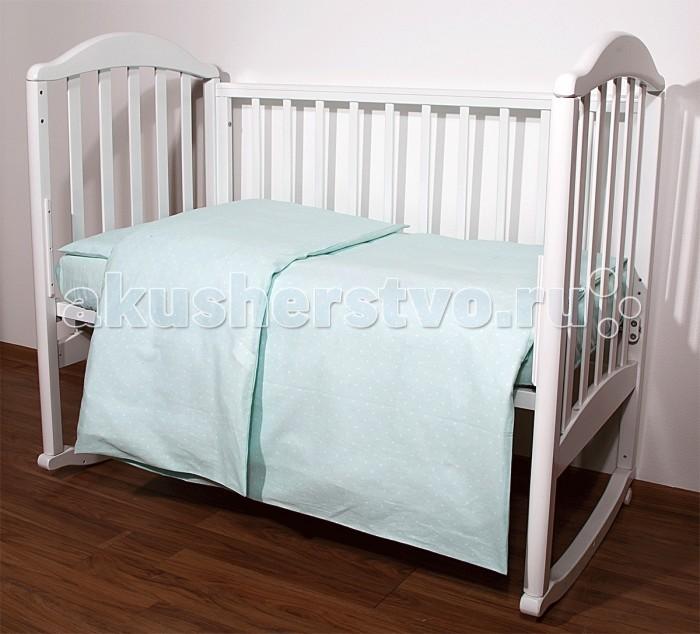где купить Постельное белье Baby Nice (ОТК) Споки ноки Горох (3 предмета) по лучшей цене