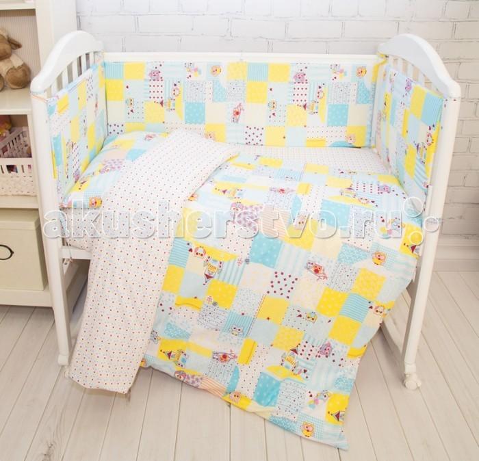 Бортики в кроватку Baby Nice (ОТК) Споки ноки Совы B79067 baby nice борт в кроватку 4 шт