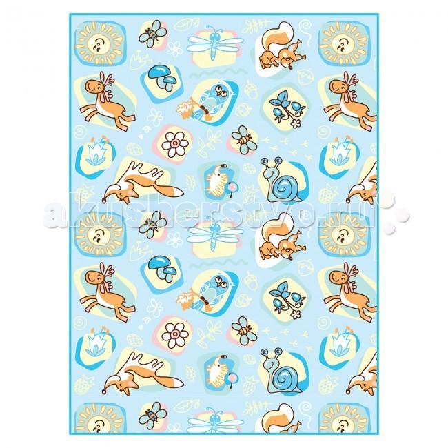 Постельные принадлежности , Одеяла Baby Nice (ОТК) байковое Лесные жители 100х118 см арт: 63869 -  Одеяла