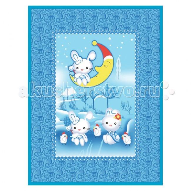 Одеяла Baby Nice (ОТК) байковое Зайка на луне 100х140 см