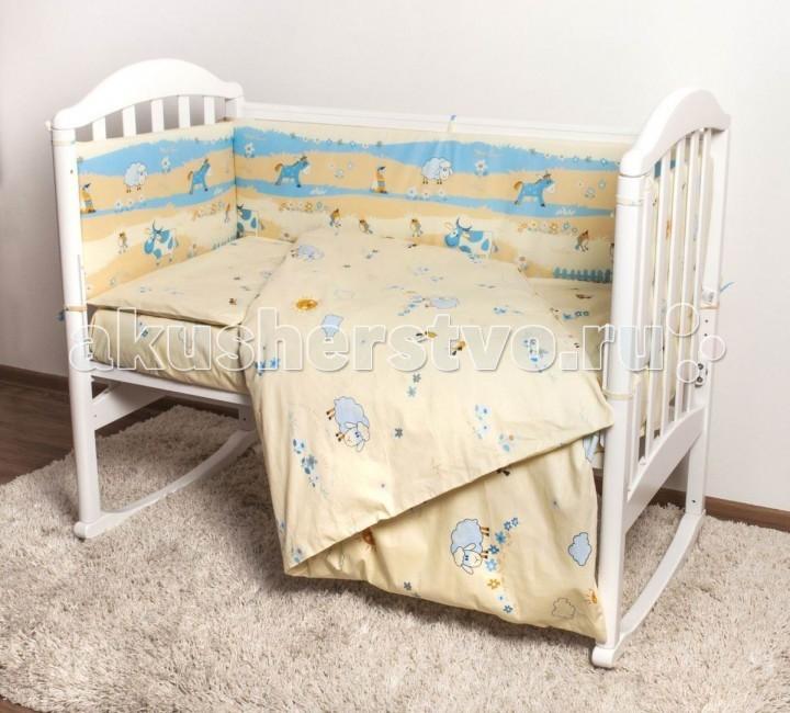 Комплект в кроватку Baby Nice (ОТК) Ферма (6 предметов)