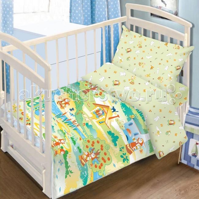 Постельное белье Baby Nice (ОТК) Гуси-Лебеди (3 предмета) baby nice отк котята 3 предмета