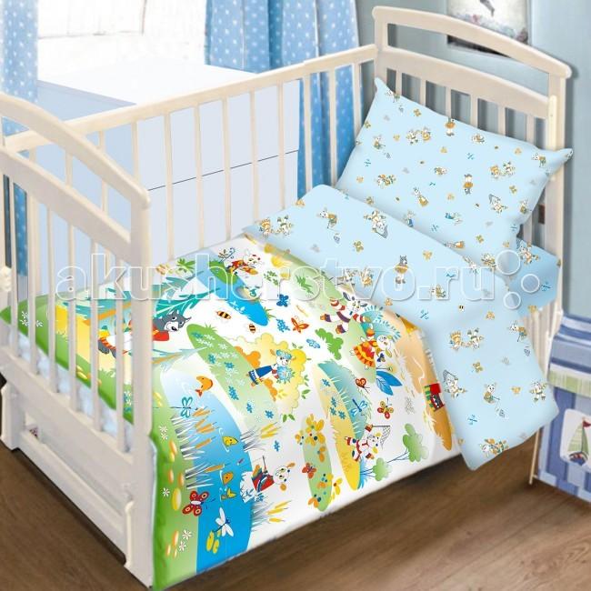 Постельное белье Baby Nice (ОТК) Семеро козлят (3 предмета) baby nice отк котята 3 предмета