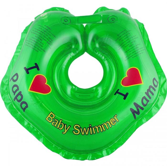 Круги для купания Baby Swimmer 0-24 мес. baby swimmer на шею для плавания клубничка красный